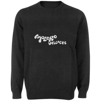 moloko vellocet sweater Black and White Sweatshirt Crewneck Men or Women for Unisex Size with variant colour