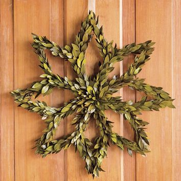 Myrtle Snowflake Wreath - Plow & Hearth