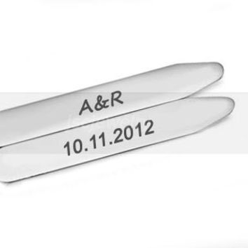 Personalized Collar Stays, Hand Stamped Collar Stays, Shirt Stiffener Stay