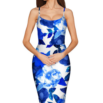 Blue Blood Olivia Bodycon Midi Dress - Women