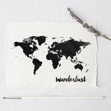 World Map Poster Watercolor Print World Map  Watercolor Map Art World Map Wanderlust Travel Poster Map of World World Map Digital Wall Art