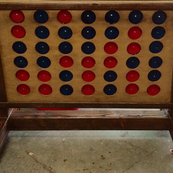 Giant Outdoor Lawn Rustic Yard-sized Connect Four Game