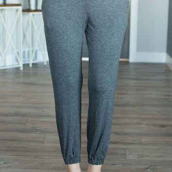 The Perfect Joggers- Heather Charcoal