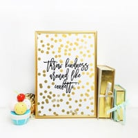 """Typography Art Print Colorful Confetti Inspirational Quote Motivational Quote Dorm Decor PRINTABLE Art """"Throw Kindness Around Like Confetti"""""""