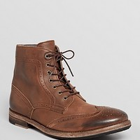Modern Fiction Leather Wingtip Boots | Bloomingdale's