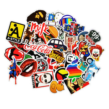 50pcs /lot Mobile phone Sticker Bomb Decal Vinyl Roll Car Skate Skateboard Laptop Luggage for iphone tcl htc