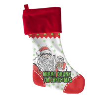 Merry Drunk Christmas Stocking