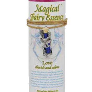 Love Pillar Candle with Fairy Dust Necklace