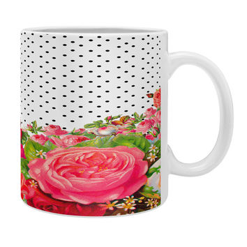 Allyson Johnson Bold Floral And Dots Coffee Mug
