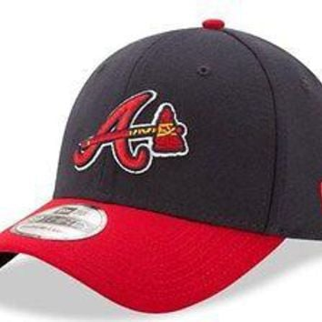 Atlanta Braves New Era MLB 39THIRTY Team Classic Tomahawk Stretch Flex Cap Hat