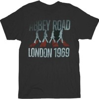 The Beatles London 1969 Abbey Road Black Mens T-shirt - The Beatles - | TV Store Online