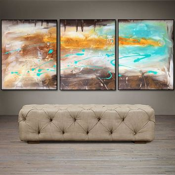"""'An Autumn Song'  - 48"""" X 20"""" Original Abstract  Art.  Free-shipping within USA & 30 day return Policy."""