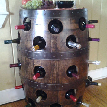 Barrel Wine Rack - Whiskey Barrel