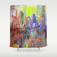 Downtown Shower Curtain by Ganech Joe