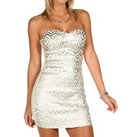 Silver Show Off Zig Zag Mini Dress