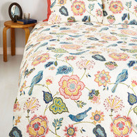 Boho Tweet Dreams Quilt Set in Full, Queen by ModCloth