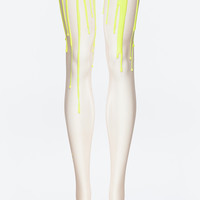 Neon Yellow Melting Tights | URB