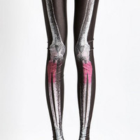 Design 145 - White and Red X-Ray Leggings