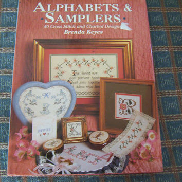 Alphabets & Samplers Cross Stitch Pattern Book