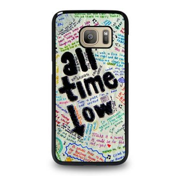 all time low colour samsung galaxy s7 case cover  number 1