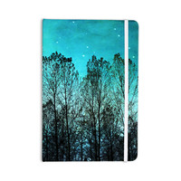 "Sylvia Cook ""Dark Forest"" Blue Trees Everything Notebook"