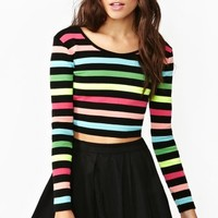 Highlighter Sweater Crop Top