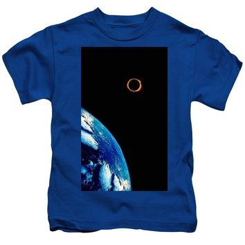 Solar Eclipse From The Space By Adam Asar 2 - Kids T-Shirt