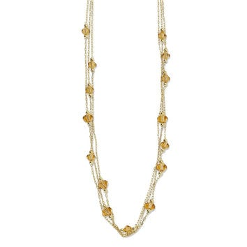 Gold-tone Light Colorado Made with  Crystal 16in w/Ext Necklace