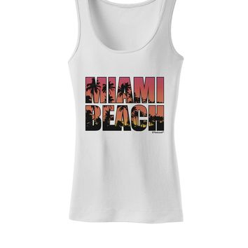 Miami Beach - Sunset Palm Trees Womens Tank Top by TooLoud