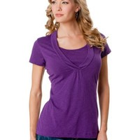 A Pea in the Pod: Short Sleeve Pull Over Mock Layer Nursing Top