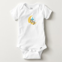 Baby Bear w/Blue Hat Sleeping on Moon Baby Onesuit