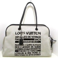 Auth LOUIS VUITTON Articles de Voyage M92806 Gray Black Cruise Collection RC4018