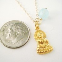 "20%OFF Buddha Charm Necklace - ""Enlightened One"""