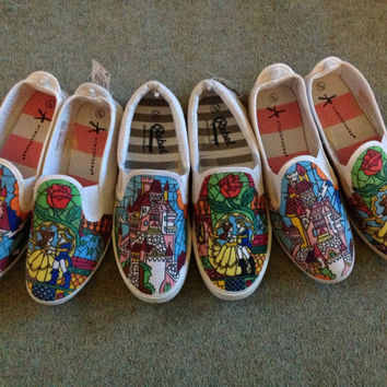 Disney Beauty and the Beast canvas shoes