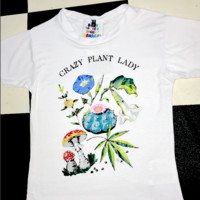SWEET LORD O'MIGHTY! CRAZY PLANT LADY TEE IN WHITE