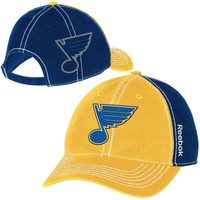 Reebok St. Louis Blues Face-Off Spin Adjustable Hat - Gold/Navy Blue