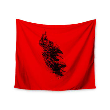 "BarmalisiRTB ""Came From Hell"" Red Digital Wall Tapestry"