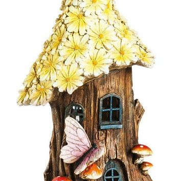 New Creative Spring Petals Tall Lighted Fairy House