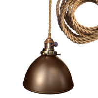 "Dome 7"" Metal Shade Pendant Light"