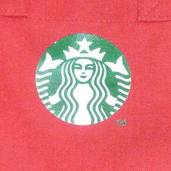 Small Red Starbucks Coffee Tote Bag