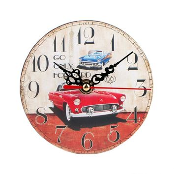 High Quality Vintage Style Non-Ticking Silent Antique Wood Wall Clock