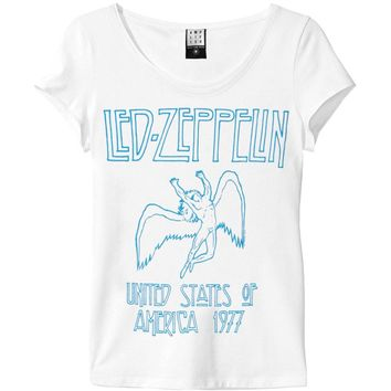 Led Zeppelin  Swan Junior Top White