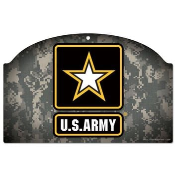 "UNITED STATES U.S. ARMY 11""X17"" WOOD SIGN BRAND NEW  SHIPPING WINCRAFT"