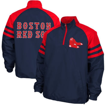 Boston Red Sox Come Back Half Zip Pullover Jacket - Navy Blue