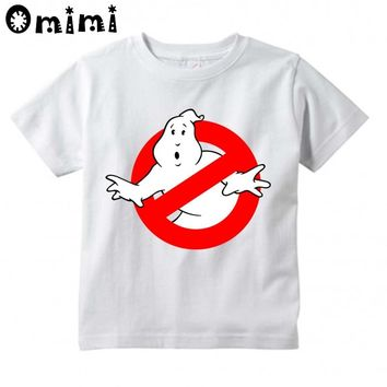 Children Ghostbusters Cartoon Printed T Shirt Boys and Girls Great Casual Short Sleeve Tops Kids Cute T-Shirt