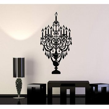 Vinyl Wall Decal Candles Candlestick Lighting Home Decoration Stickers Unique Gift (550ig)