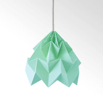 Moth origami lampshade ice mint