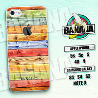 Wood, Colorful, Vintage, iPhone 5 case, iPhone 5C Case, iPhone 5S case, Phone case, iPhone 4 Case, iPhone 4S Case, Phone Skin, wd04a