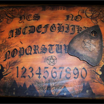 Old Salem Witch Ouija Board Hand made to order