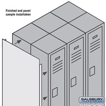 Salsbury Industries Finished Double End Panel - for 6 Feet High 12 Inch Deep Metal Locker